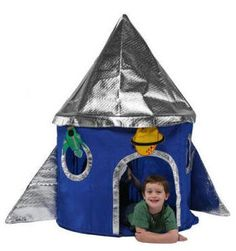 "Rocket Ship Tent:  Make with 1/2"" pipe and fabric????"