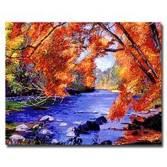 Trademark Fine Art David Lloyd Glover 'Vermont River' Canvas Art