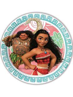 8 Platos de cartón Vaiana™ 23 cm: Este lote incluye 8 platos con licencia oficial Vaiana™.Son redondos y miden alrededor de 23 cm de diámetro.Vaiana y Maui aparecen en el centro dibujados.Con estos platos...