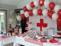 red and white colors for appreciation theme: Volunteers are the Heart of the…