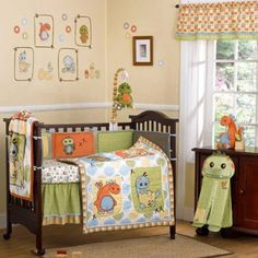 Dinos at Play 9 Piece Baby Crib Bedding Set with Bumper by Cocalo
