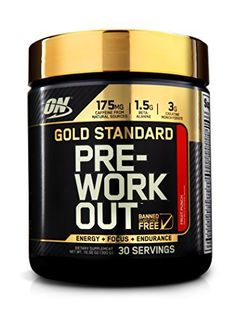 Optimum Nutrition Gold Standard Pre-Workout, Fruit Punch, 30 Servings - http://www.exercisejoy.com/optimum-nutrition-gold-standard-pre-workout-fruit-punch-30-servings/fitness/