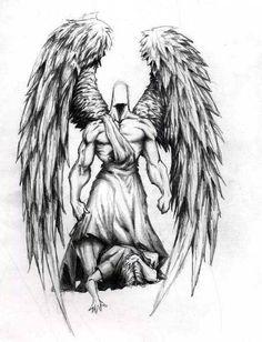 Angel Tattoo Designs Ideas, Guardian Angel Tattoo Designs For Men