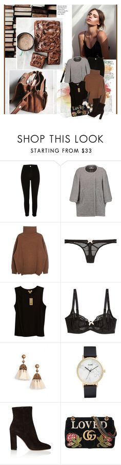 """Light it up, on the run Let's make love tonight Make it up, fall in love, try"" by winfreda ❤ liked on Polyvore featuring Whiteley, River Island, Chloé, L'Agent By Agent Provocateur, Helmut Lang, Loren Hope, CLUSE, Gianvito Rossi and Gucci"