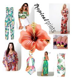 """""""Tropical Fashion"""" by nicole-truly on Polyvore featuring Luxxel, Manon Baptiste, Elie Tahari, Mara Hoffman, Boohoo and tropicalprints"""