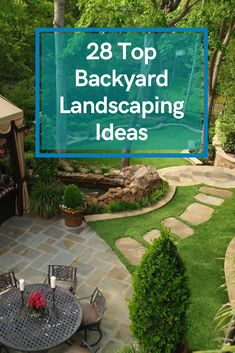 28 Top Backyard Landscaping Ideas #backyardlandscapingideas Landscaping Ideas, Backyard Landscaping, Playground, Patio, Landscape, Garden, Outdoor Decor, Top, Diy Landscaping Ideas