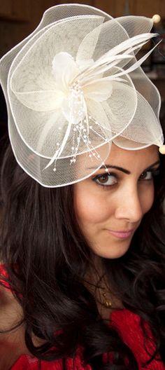 Duchess Elegant Ivroy English Couture Fascinator Hat by EyeHeartMe