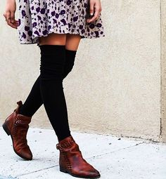 #freepeople #kneehighsocks #kneehigh #girlsfashion #casual #fall #autumn