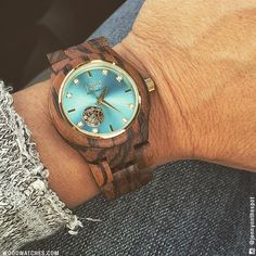 The small things do matter. Those tiny little pieces of perfection that add complexity and color to your everyday, they matter.  Every facet and feature, every unexpected element, and every last detail will not go unnoticed. Dive into the cool Turquoise tones of our Cora, perfectly balanced by the warm and untamed Zebrawood grain. Crafted to be adored, this timepiece was created for you.