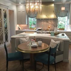 in atlanta, for the unveiling of house beautiful's kitchen of the year, designed by matthew quinn. I'll detail all the jaw-dropping details, from the curved island to the custom hardware to the teal-tiled walk-in pantry, in our october issue. #hbkoty #hbkoty2016 @matthewquinndesign