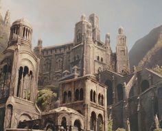 ELF WEEK Day Seven: anything you want • Elven Architecture 1/3 Elven Dark elf Fantasy artwork