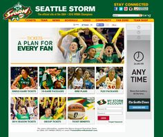 Seattle Storm: StormBasketball.com Tickets landing page