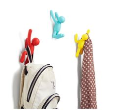 Buy Umbra Buddy Hooks - Assorted Colours from our Coat Hooks range at Red Candy, home of quirky decor. Modern Hallway Furniture, Quirky Decor, Toilet Roll Holder, Rack Design, Red Candy, Coat Hooks, Coat Hanger, Dot And Bo, Wall Hooks