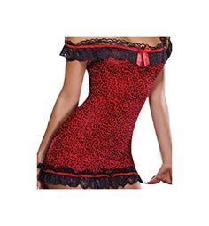 Sexy BABYDOLL RED DIAMOND STYLE von Dreamgirl Queen-Size