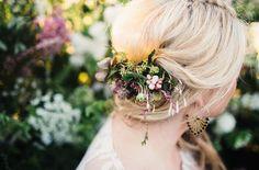 Fersh flower hair piece