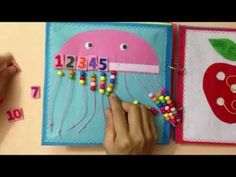 Quiet book for kid/busy book for kid/The first book ABC 1/Ideas for the first book ABC/ABC busy book - YouTube