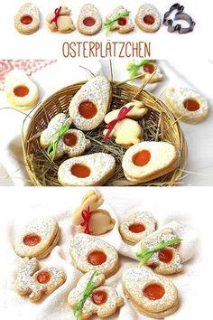 OSTERPLÄTZCHEN MIT APRIKOSENFÜLLUNG: Plätzchen sollte man keinesfalls nur zu Weihnachten genießen. Osterplätzchen schmecken lecker zum Osterkaffee und sind auch wunderbare kleine Geschenke, die sich prima von all den Schokohasen und Zuckereiern abheben. #ostern #osterhase #osterplätzchen #osteridee #vegan #veganbacken #kleinstadthippie