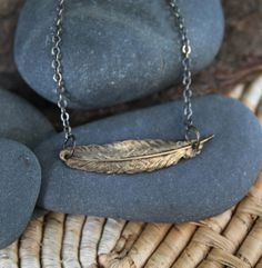 A reminder that you can fly when you need to. :: feather love . a so i fly necklace on Etsy