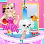 Princess Elsa New Poodle Friend Jack Wills Dresses, Free Mobile Games, Elsa Birthday Party, Pet Dogs, Pets, Jack Frost, Online Games, Poodle, Princess Zelda