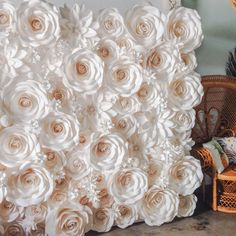 paper flower backdrop by moniquepaperart wedding flower wall pinterest paper flower backdrop backdrops and flower