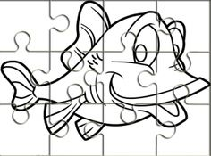 Ocean Animals Printable Puzzles for Kids | Printable puzzles, Free ...