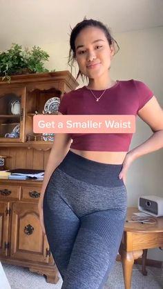 Small Waist Workout, Full Body Gym Workout, Summer Body Workouts, Slim Waist Workout, Gym Workout Videos, Gym Workout For Beginners, Fitness Workout For Women, Butt Workout, Fitness Goals