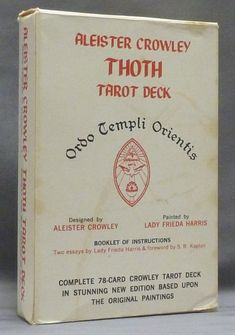 Aleister Crowley Thoth Tarot Deck   Aleister CROWLEY, Lady Frieda Harris   Reprint