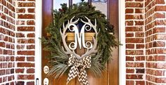 """By far the hottest ticket item of the season....This antler monogram is the perfect wall/door piece for the season! This is a custom piece that you won't find anywhere else! Choose your initial and decorate your monogram with seasonal touches or just finish it to fit in with your everyday home decor.This gorgeous monogram is .5 inch thick and cut from our Baltic Birch Plywood. Each monogram roughly measures 20"""" tall by 18"""" wide.Customer may choose ONE initial (A-Z) per antler."""