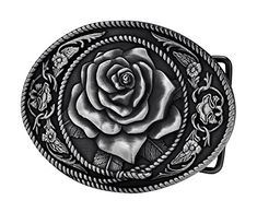 4fac057d1725 Like the special adult womens western vintage rose ornate rope belt buckle  silver in movies  Elegant custom leather belts