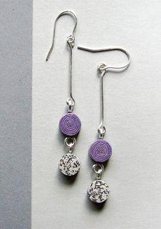 recycled newspaper earrings || @blureco