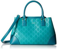 Vera Bradley Split Emma Satchel Shoulder Bag Ikat Diamonds Teal One Size ** Continue to the product at the image link.Note:It is affiliate link to Amazon.