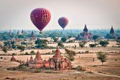 Balloons over Bagan  www.samgellman.com  Bagan, Myanmar.
