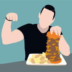 "Ananda Culebras custom illustration on Instagram: "" Inspired by @tonielpowerlifter "" #vector #vectorart #vectorIllustration #vectordesign @procreate #procreate #procreateart #procreatedrawing #drawing #draw #drawings #vectordrawing #vectorart #vectorillustration #person #persona #persondrawing #hamburguesa #hamburguerdraw #drawingburger #burguer #burguerlovers🍔 #foodporn #food #foodlover #fooddrawing #fooddrawings #retocomida #retoconseguido💪 #todoparalamasa #maquinaria"