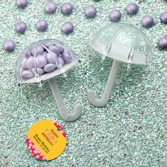 Umbrella Birthday Party Favor Containers with Personalized Tags- These cute little acrylic umbrellas will add excitement to your celebration. Candy Boxes, Favor Boxes, Birthday Party Favors, Birthday Parties, Happy Birthday Donna, Personalized Favors, Bath Salts, Hang Tags, Design Your Own