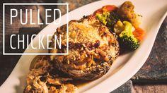 Pulled Chicken im Riesenchampignon Low Carb Slow Cooker - glutenfrei - s...