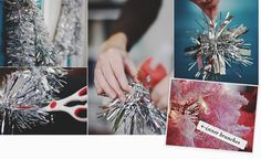 Use tinsel snippets to create cluster of background ornaments. FIVE WAYS TO THICKEN A TREE FOR UNDER $5