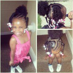 Easy twist style for little girls