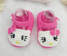 62798daf4 Handmade Crocheted Lovely Pink Baby Shoes, Crochet Cotton Baby Booties, Soft  Soled Infant Cribs