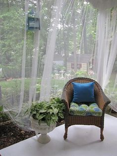 How To Create Mosquito Netting Curtains For Patio Porch