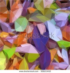 purple green background abstract geometric triangle mosaic texture polygon vector, modern design