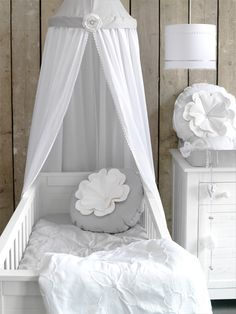 white and gray nursery..very neutral for boy or girl!