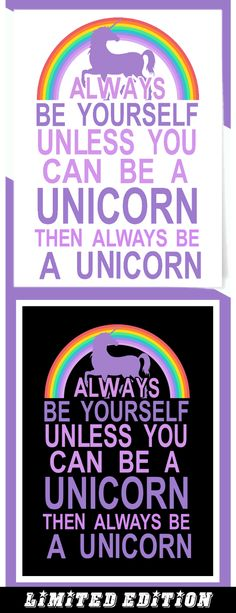 Always Be Yourself - Limited edition. Order 2 or more for friends/family & save on shipping! Makes a great gift!