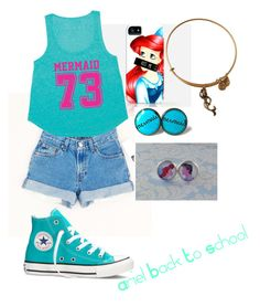 """Ariel Back To School"" by sh-armacost ❤ liked on Polyvore featuring Converse, Disney, Billabong and Alex and Ani"