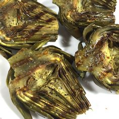 """Pan-Seared Tuna Steaks with """"Melted"""" Lemon-Caper Sauce – Cooking Roasted Artichoke Recipe, Grilled Artichoke, Artichoke Recipes, Artichoke Pizza, Healthy Grilling Recipes, Super Healthy Recipes, Healthy Foods To Eat, Vegetarian Recipes, Stay Healthy"""