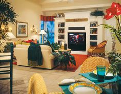 Kitchen Livingroom Mediterranean Greek Style Pinterest Open Plan