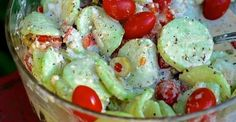 Getting your family to eat healthily is always a constant struggle. Grandmas Creamy Italian Cucumber ...