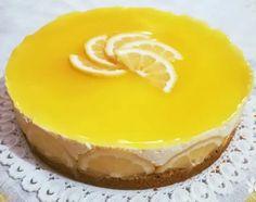 Υπέροχο μυρωδάτο τσιζκεικ λεμόνι - Μια δροσερή απόλαυση για τα καλοκαιρινά σας απογεύματα.. Cheesecakes, Nutella, Deserts, Food And Drink, Low Carb, Pudding, Sweets, Cookies, Greek Quotes