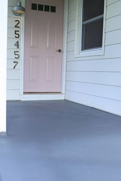 How to easily paint a cement porch floor. The Dempster Logbook.