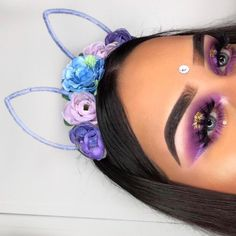 "481 Likes, 72 Comments - Rojda  (@chicfab_mua) on Instagram: ""When purple is having a date with gold ✨ PART 2 Details in previous post ---> • • • • • #makeup…"""