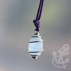 Handpicked, Genuine English Sea-foam Seaglass Pendant, Beach Glass #Jewellery, Gift for Her #Christmas #giftidea #xmas #seaside